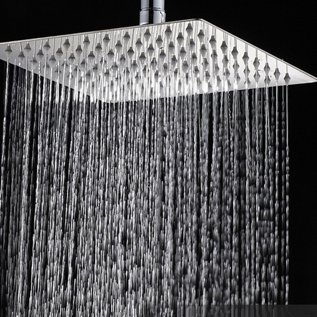 Bathroom Accessories Ceiling Mounted Rain Showerhead 304 Stainless Steel Ultrathin Shower Head 6 8