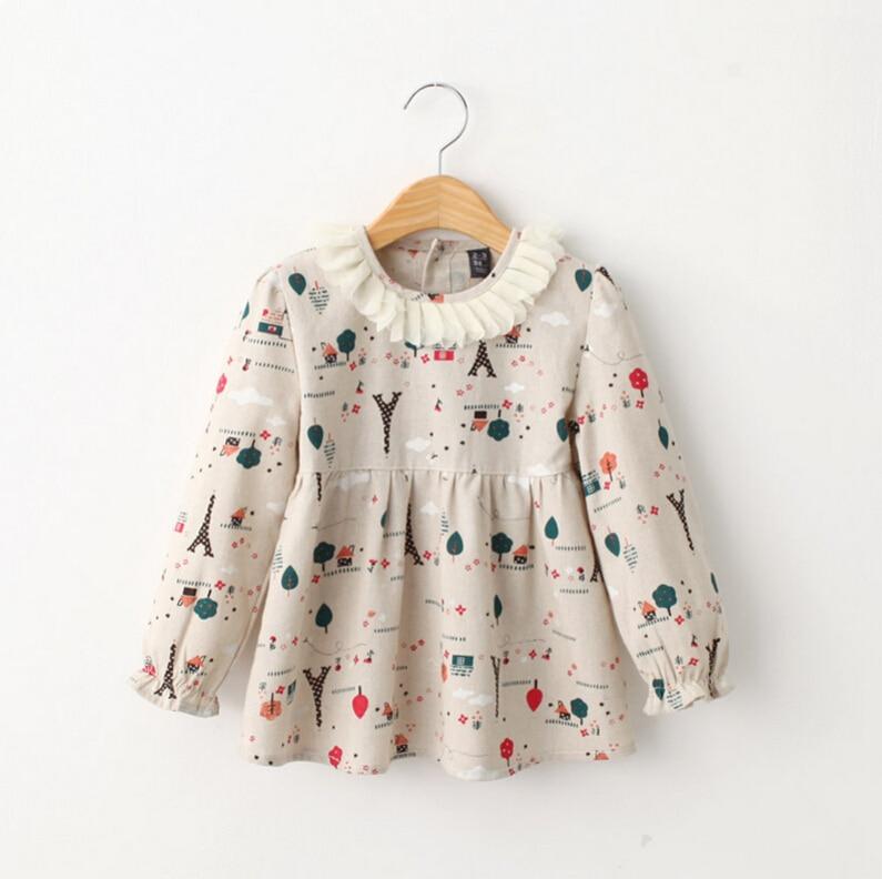 Aliexpress Buy Baby Kids Floral Pattern Long Sleeve
