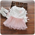Spring Autumn Long Sleeve Baby Bow Lace Mesh Flower Party Birthday Girls Kids Dresses, Princess Infant Tutu Dress Vestido PL2669