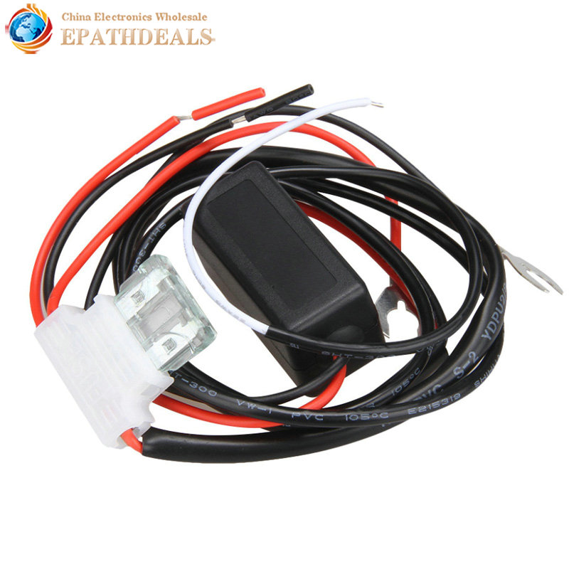 Waterproof 12V Car LED DRL Relay Daytime Running Harness Auto Controller On / Off Switch Dimmer Parking Light 12v car auto led daytime running light relay harness drl controller on off dim reduce switch with load powerr 8w 12w