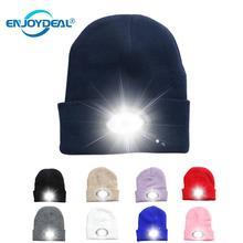 6 светодиодный светильник шапка USB перезаряжаемая Hands Free шапка с фонариком светодиодный шапочки вязаная шапка сохраняет тепло зимой для альпинизма рыбалки на открытом воздухе