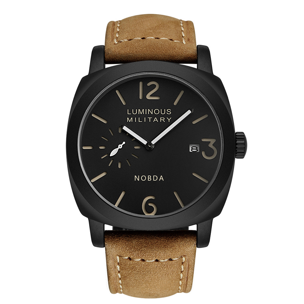 Heren Horloges Topmerk Luxe Lederen Band Sport Bruin Militair Quartz Horloge Heren Polshorloge Klok Heren relogio masculino