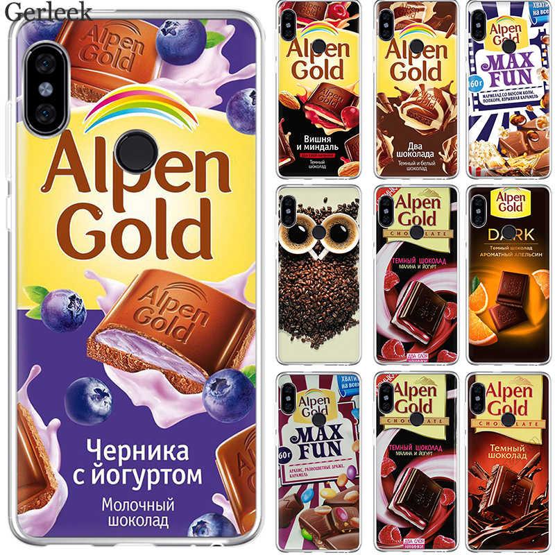 Gerleek Cassa Del Telefono Delle Cellule Russo Cioccolato Per Xiaomi Redmi Nota 4 4X5 6 Pro Coperchio di Protezione Borsette