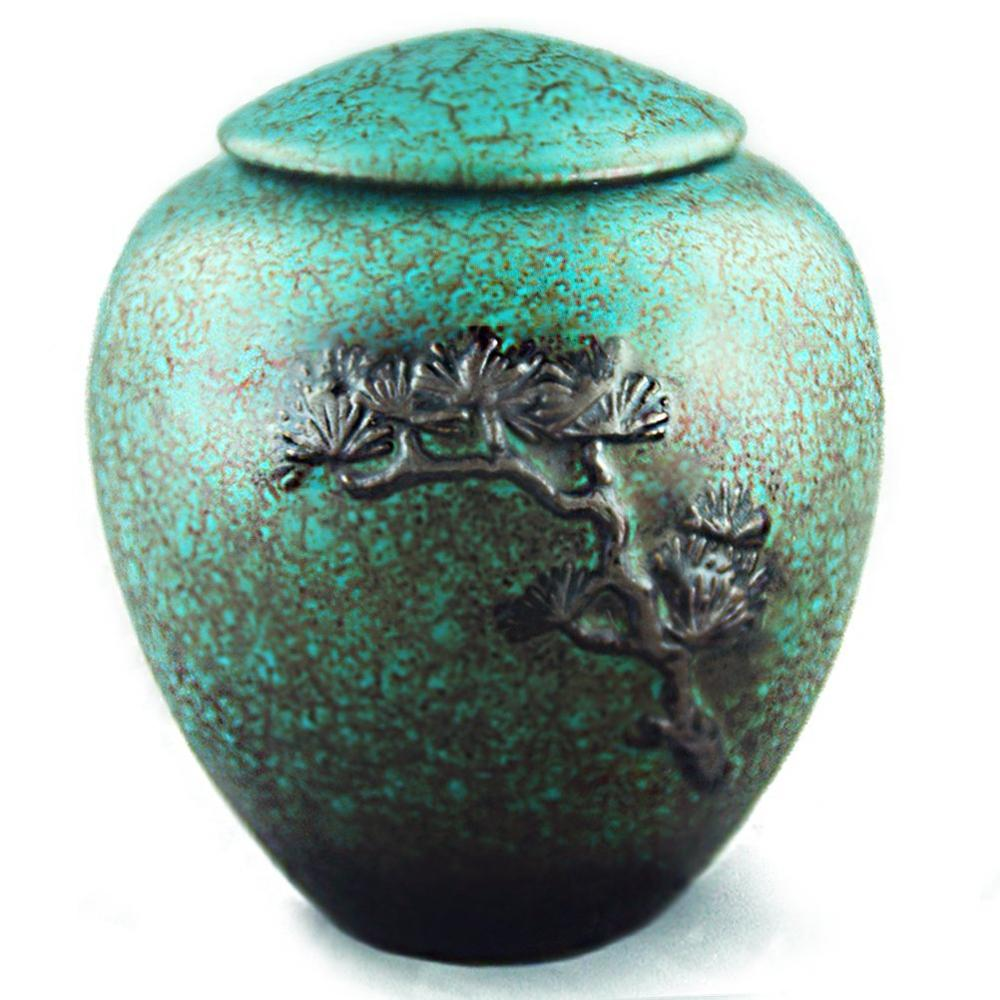 생명의 녹색 나무 장례식 urn 화장 용 urns for pet human ashes 수동 릴리프 디스플레이로 만든 성인 손 burial urns-에서강아지 액세사리부터 홈 & 가든 의  그룹 1