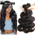 Indian Virgin Hair Body Wave 4 Bundles Unprocessed Remy Human Hair Weave Soft Hair Extensions Natural Black Highlighted Weave