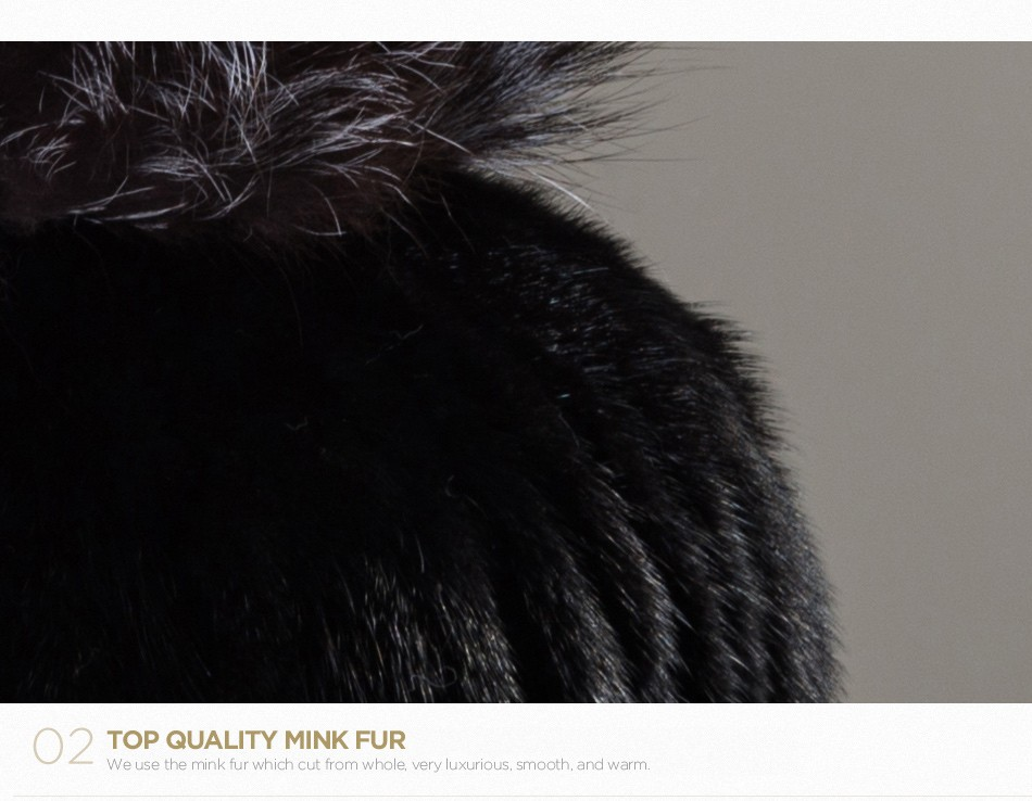 mink fur winter hats for women PCM010 (6)