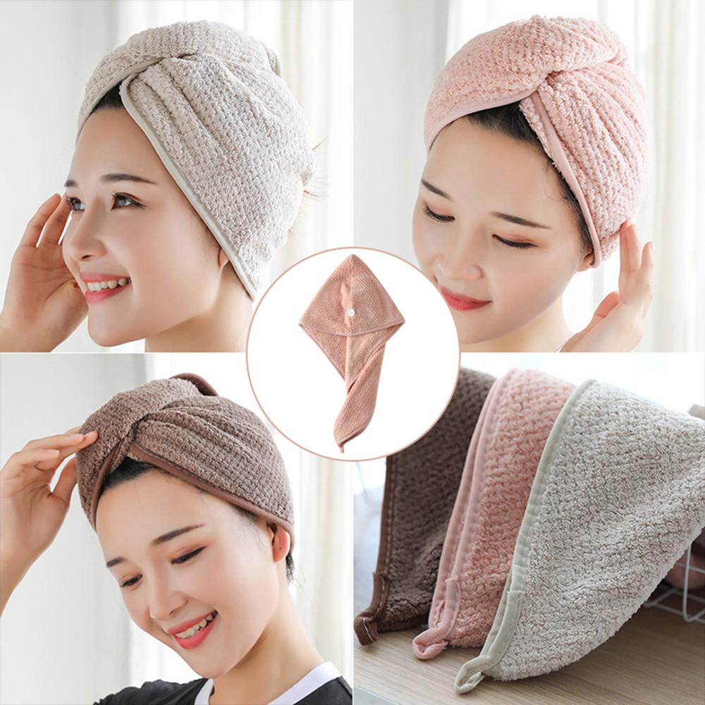 towel bathing cap quick drying towel adult shower cap Hand Face Towel Outdoor Travel Kits Wholesale price drop shipping