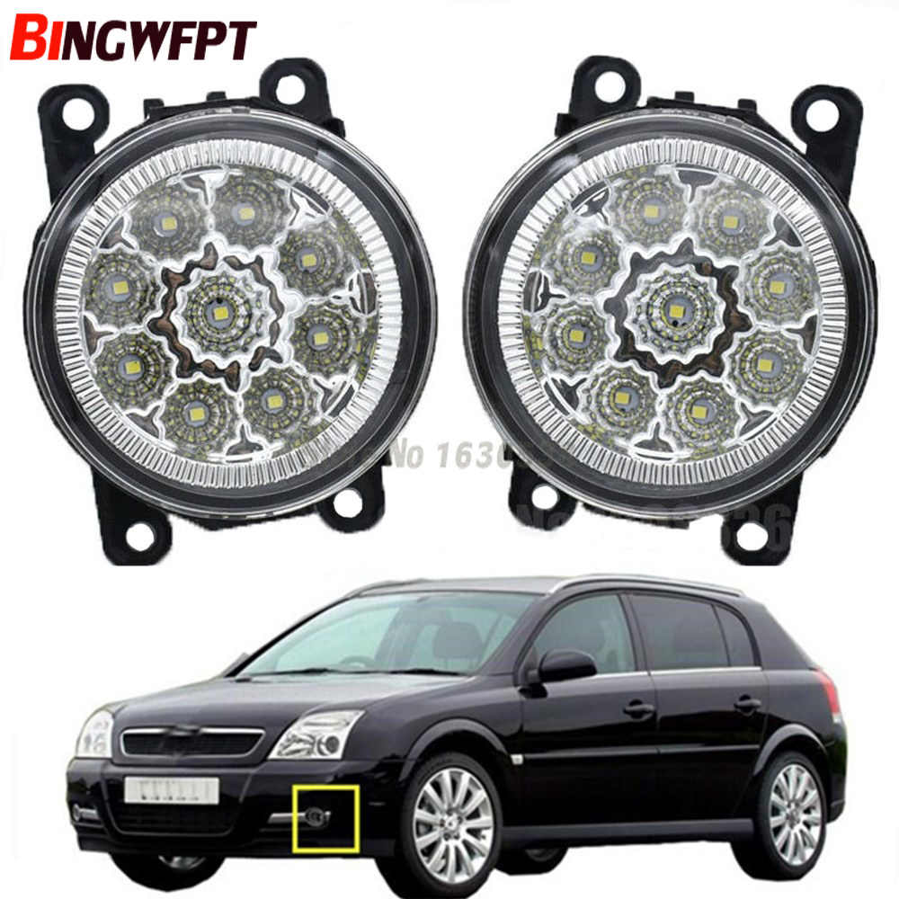 2x High quality Car Exterior Accessories H11 90MM LED Fog Lamps White Yellow For Opel Signum Hatchback 2003-2015