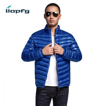 2017Men' Cotton Clothing Large Size Men Stand Collar Thin Section Of High-Quality Fabric Down + Cotton  Casual  Men Jacket wm69