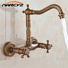 Tall Classic Antique Brass Faucet Kitchen / Bathroom Mixer Tap XR-GZ-8118