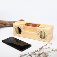 Wooden Bluetooth Speaker Outdoor Portable Subwoofer Wireless Speakers TF Card FM For iPhone Samsung Cell Phone Stand Holder