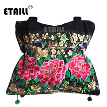 Double Faced Floral Hmong Embroidery Bag Thailand Boho Indian Handbags Ethnic Original Embroidered Bag Sac Besace Ethnique Brode недорого