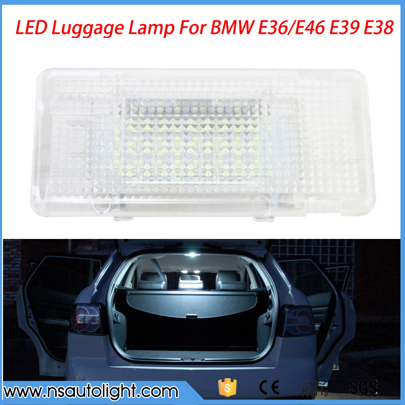 Error Free 24 LED Interior Footwell Luggage Trunk Boot Glove Box Light Car Lamp Bulb For BMW X5 E36 E39 E90 E46 E53 E66 E61 F01 for bm w e87 e87 facelift e88 e89 z4 e90 car high quality rear boot led trunk luggage light lamp error free new
