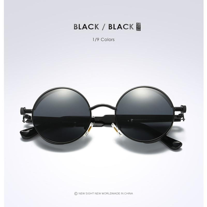 Gold Retro Metal Polarized Sunglasses 5