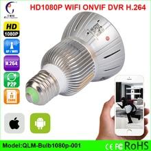 Accueil Ampoule Lampe MINI IP Caméra Wifi Micro SD CCTV sécurité wifi Caméra HD 1080 P Sans Fil Audio Nuit Surveillance Vision caméra