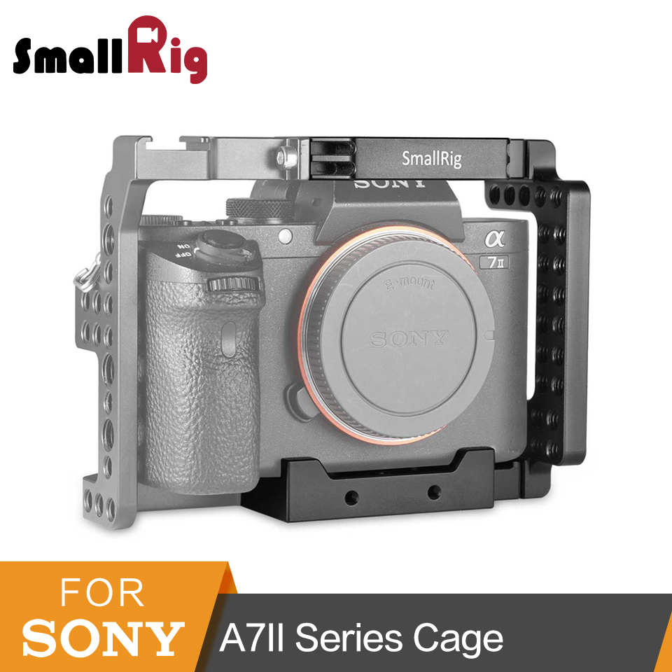 SmallRig Aluminum Alloy Half Cage For SONY A7II/A7RII/A7SII/ILCE-7M2/ILCE-7RM2/ILCE-7SM2 High Quality -1673 smallrig camera cage top handle kit for sony a6300 a6000 a6500 ilce 6000 ilce 6300 ilce 6500 nex7 cage rig 1921