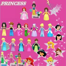 Princess Doll Building Blocks Toys Legoing Friends Snow White Belle Mulan Model Compatible Princess Legoings Figures Girl Gifts(China)