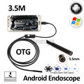 5.5mm OD 3.5M Android USB Endoscope Camera Flexible Snake Pipe Inspection OTG USB Android Phone PC Borescope 6LED Camera