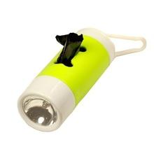 Flashlight Pet Poop Bag Dispenser Dog Waste Garbage Bags Carrier Pets Poo Bag Holder Disposable Bag Dispenser for Dogs Cat Pouch