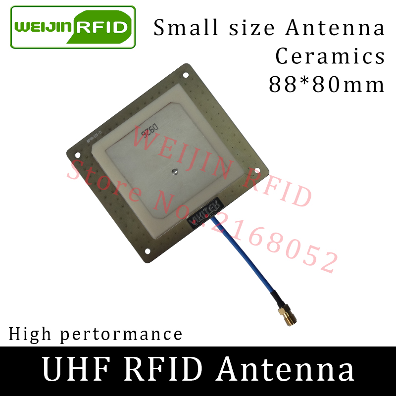 UHF RFID antenna 915MHz VIKITEK VA62 small circular polarization gain 4DBI short distance for UHF rfid reader liquid blue lionheart motorola droid 2 skinit skin