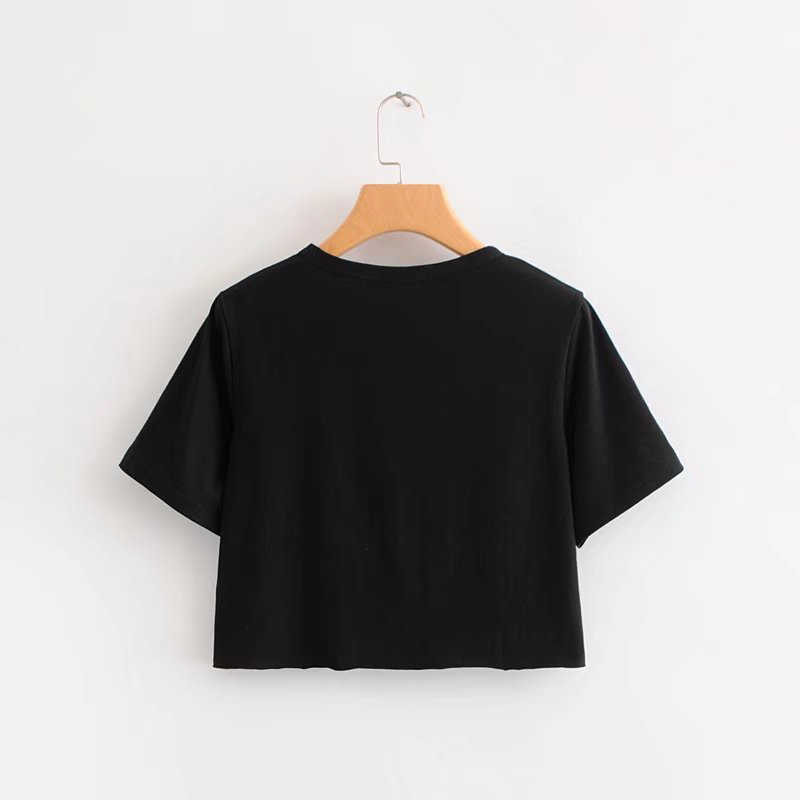 Summer Harajuku Southside Riverdale Print Black T Shirt Women Tumblr Crop Top Short Sleeve