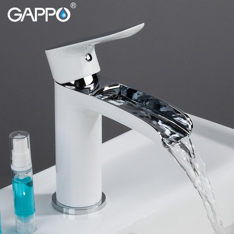 gappo basin faucet white chrome waterfall tap bathroom sink faucet water tap mixer washbasin bath faucets brass basin mixer