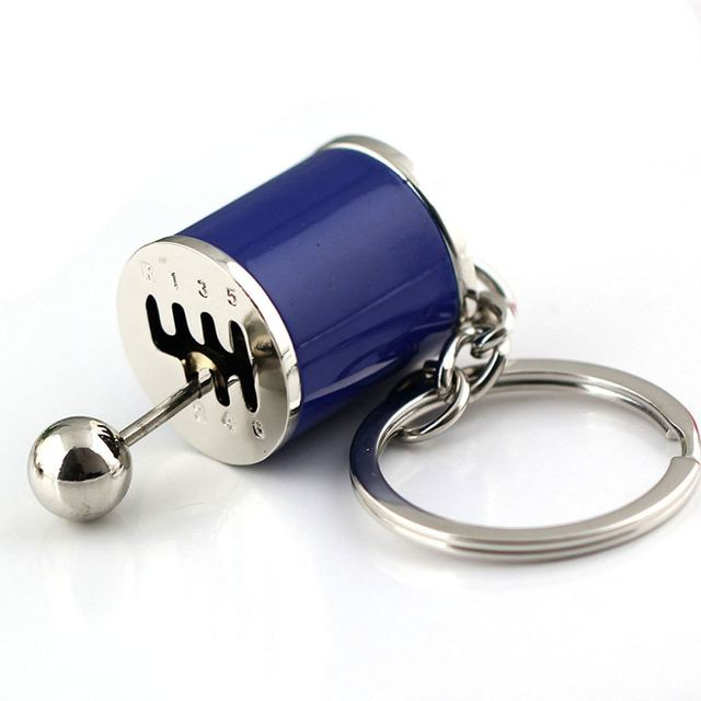 Car Six Speed Removable Transmission Gear Shift Gear Shift Knob Gearbox Keychain Keyring
