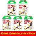50 hojas de película para fujifilm instantánea fujifilm fuji instax mini 8 mini 7 s 25 50 s 90 cámara fuji instax borde blanco foto de la película de papel