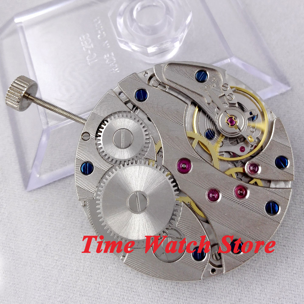 Parnis 17 Jewels swan neck mechanical 6497 Hand Winding movement fit men s watch M1
