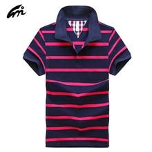 2017 men Polo Summer New Mens Striped Polo Shirt Brand Of High Quality 100% Cotton Men's Short Sleeved Polo Shirt Sportsman Tee