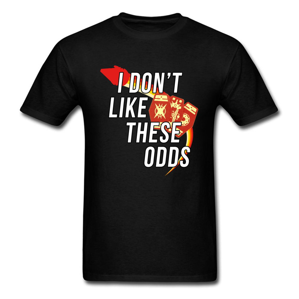 Star Wars Dont Like These Odds T-Shirt Father Day Pure Cotton Round Collar Tops T Shirt Short Sleeve Summer Tee-Shirt Fashion