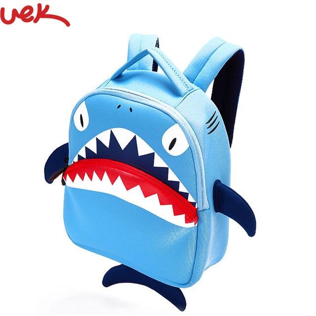 3D Shark Cartoon Girls Backpack High Quality Cute 3D Children's Shoulder Bag  Cartoon Backpack School Bags SJ016