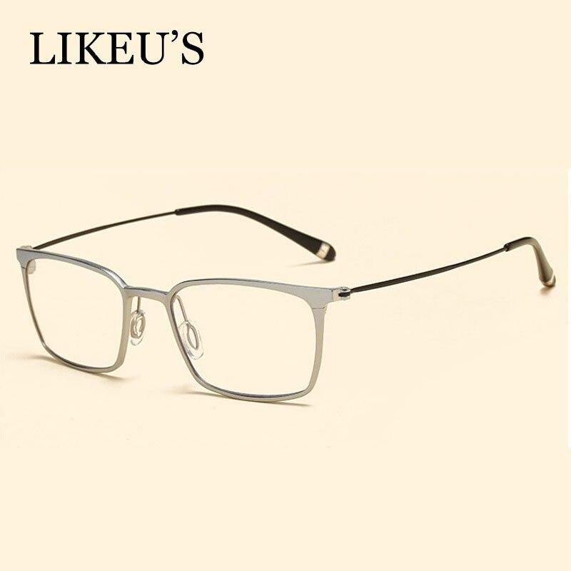 LIKEU 39 S Lightweight High Optical Glasses Frame Aluminum Magnesium Blue Light Filter Computer Eyeglasses Anti Radiation Goggles in Men 39 s Eyewear Frames from Apparel Accessories
