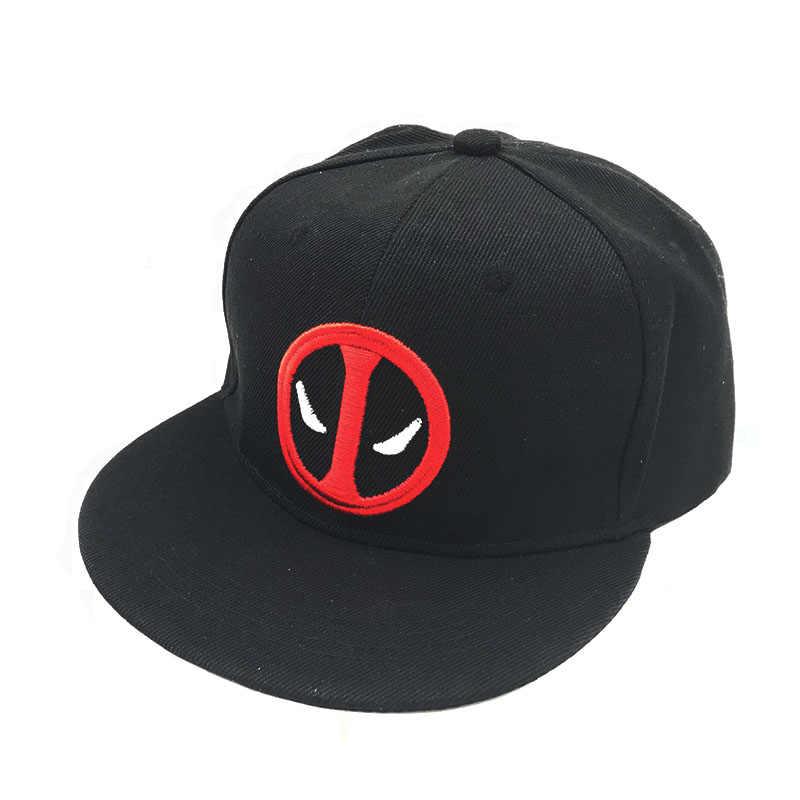 sale retailer 1bbd7 53a3e Fashion Unisex Cotton Outdoor Anime Comic Marvel Deadpool Snapback Summer  Hip Hop Embroidery Cap Hat Baseball