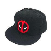 купить Fashion Unisex Cotton Outdoor Anime Comic Marvel Deadpool Snapback Summer Hip Hop Embroidery Cap Hat Baseball Cap For Men Women по цене 282.82 рублей