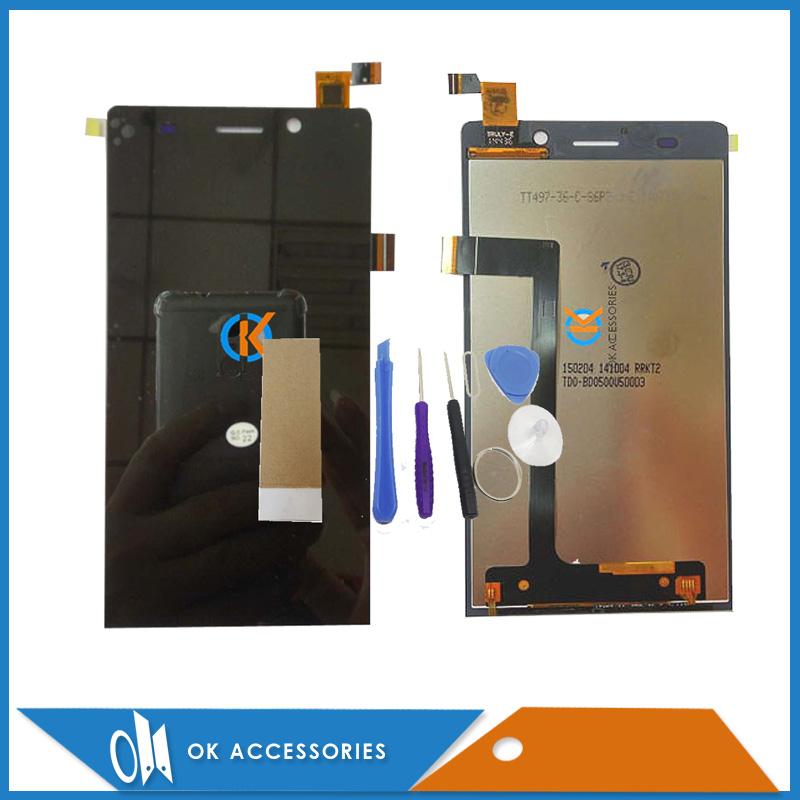 100% High Quality For Highscreen Thor LCD + Touch Screen Digitizer Black Color With Tools & Tape