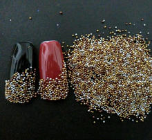 1 5g Mixcolor nail ball glass gold silver Glitter Beads Stereoscopic Caviar Beads Manicure 3D Nail