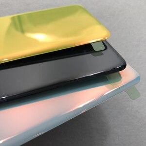 Image 3 - סוללה זכוכית כריכה אחורית עבור Samsung Galaxy S10e G970 G970F SM G970F אחורי דלת שיכון כיסוי עם מצלמה עדשה עמיד למים דבק
