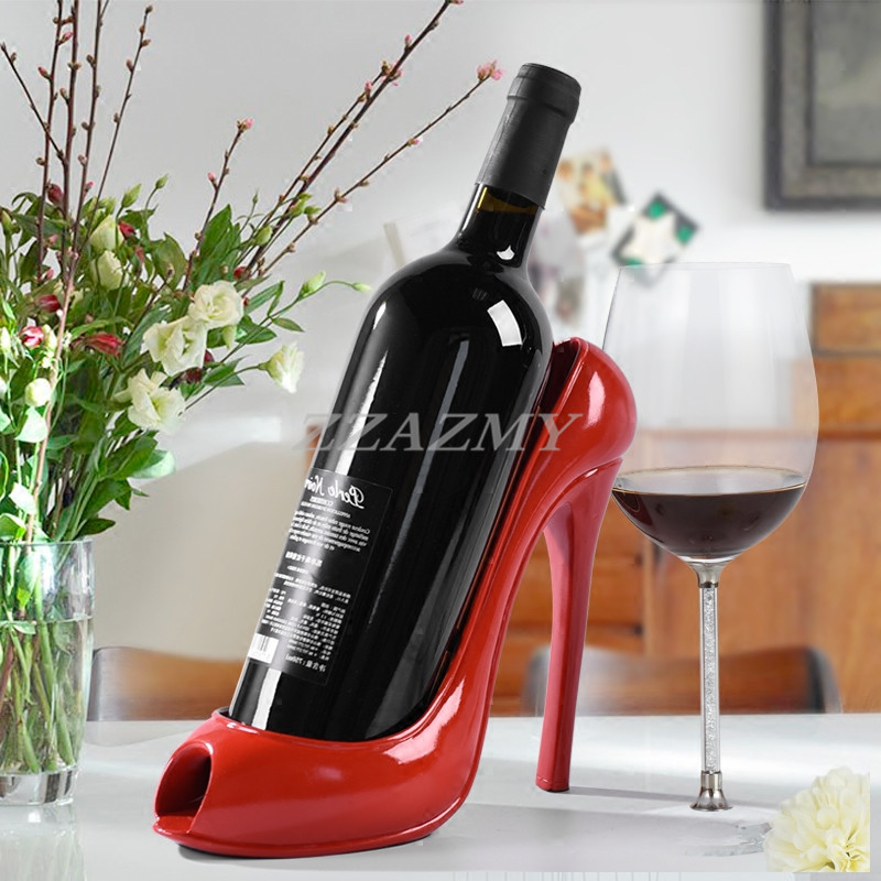 Us 29 0 Creative High Heeled Shoes Shape Wine Red Rack One Bottles Holders In Racks From Home Garden On Aliexpress