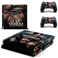 Venom and Spiderman PS4 Skin Sticker Decal For Sony PlayStation 4 Console and 2 Controllers PS4 Skins Sticker Vinyl protective vinyl skin decal cover for ps vita psvita playstation vita portable sticker skins diamond plate