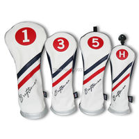 Craftsman Red White Blue Premiun Golf Wood Head Covers Headcover Driver FW UT Utility Headcovers Free