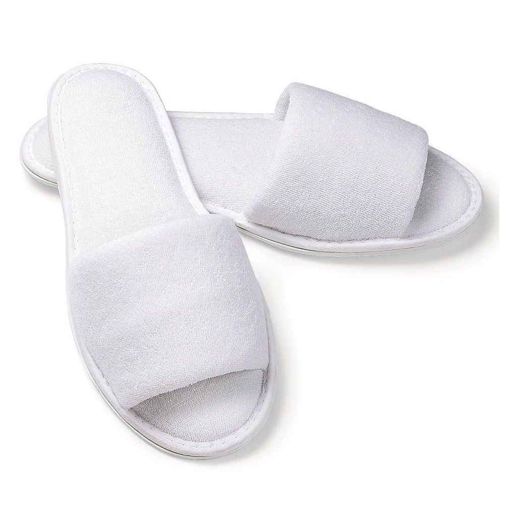 Baby Hotel Slippers Us 10 92 12 Off Texu 5 Pair White Towelling Hotel Disposable Slippers Terry Spa Guest White In Slippers From Shoes On Aliexpress Alibaba Group