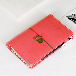 Image 5 - Korean Creative Loose   leaf  Planner Retro Diary Business Agenda Bind Snap Notebook Portable Small Notebook Stationery Book