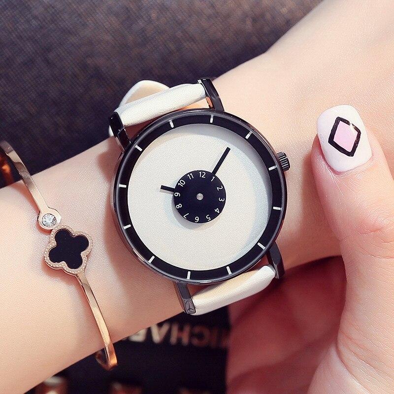 Prix pour GIMTO Mode Simple Dames Montre Femmes Casual Bracelet En Cuir Robe Montres Femme Horloge relogio feminino montre femme