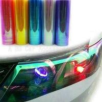 12 Rolls/Lot 10 Renkler Gökkuşağı Etkisi Araba Işık Bukalemun Far Filmi Arka Lamba Tonu Filmi Vinil Renk Değişimi Boyutu: 0.3*10 M