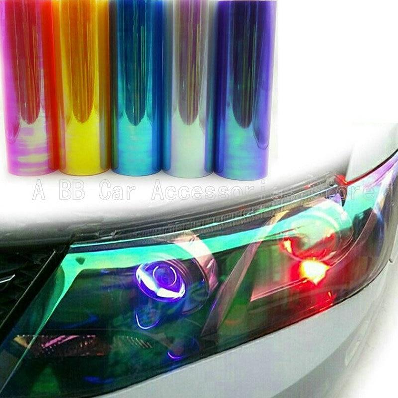 12 Rolls/Lot 10 Colors Rainbow Effect Car Light Chameleon Headlight Film Taillight Tint Film Vinyl Color Change Size: 0.3*10M батарейка aaa xiaomi rainbow colors 10 штук