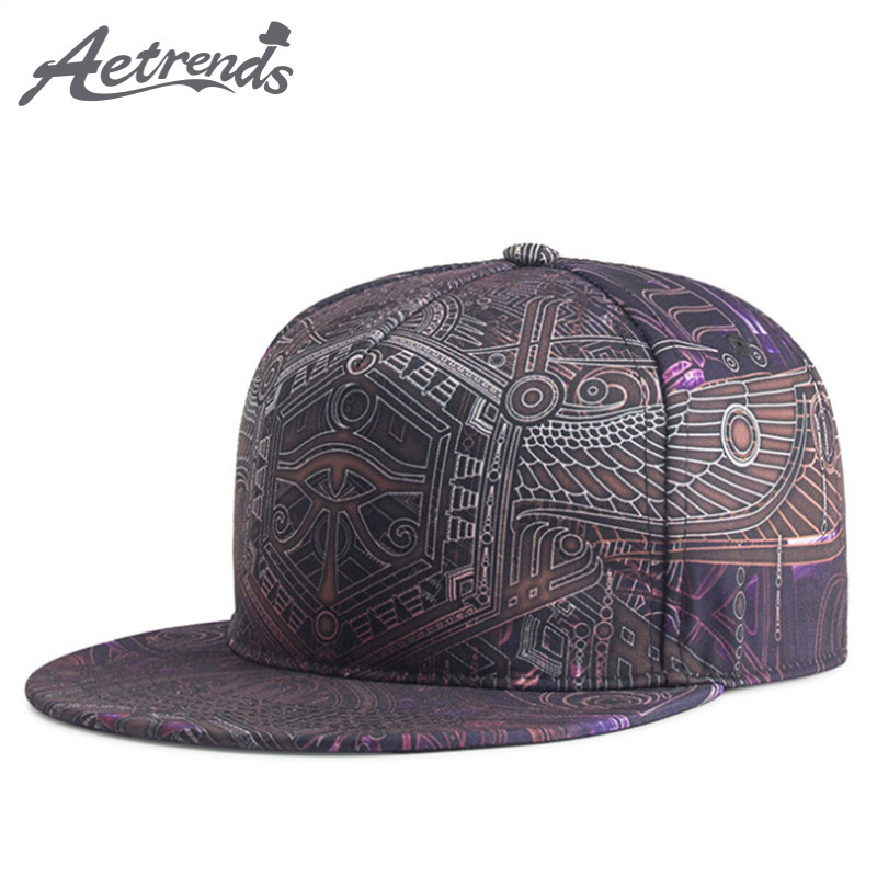 [AETRENDS] 2018 New Sport HipHop   Baseball     Cap   Men or Women Hip Hop   Caps   Flat Bone Snapback Hats Z-6286