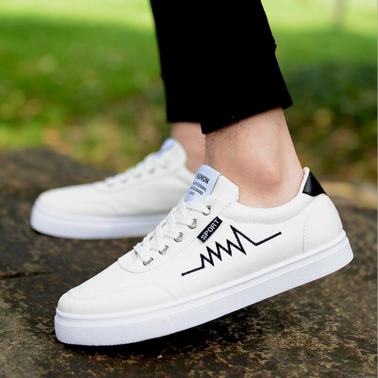 D'été La De 2018 Confortable Chaussures Casual Populaire Blanc Mode Noir Respirant Toile Gratuite Nouveaux Tendance blanc Hommes Livraison wP80XnOk