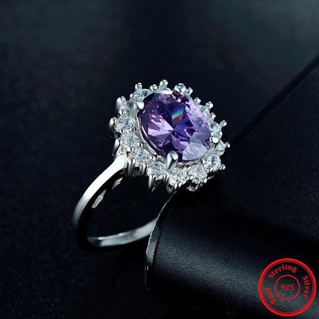 Купить 20ct модные настоящее твердые 925 серебряное кольцо женские картинки