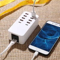 35 W 8 Port Mobile Phone Charger Type C USB Fast Charger For EU US UK